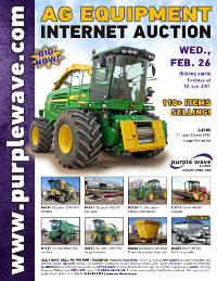 View February 26 Ag Equipment Auction flyer