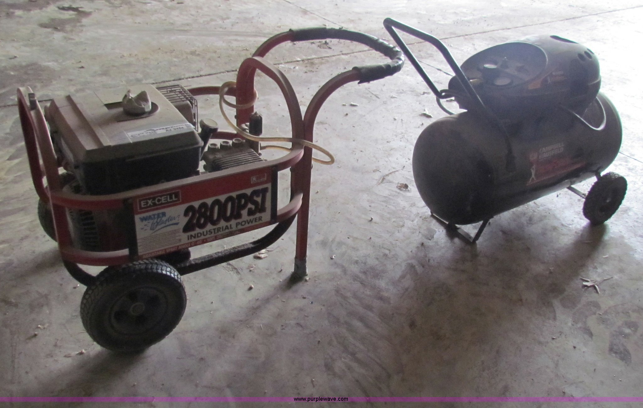 excell water blaster pressure washer item aj9484 sold m