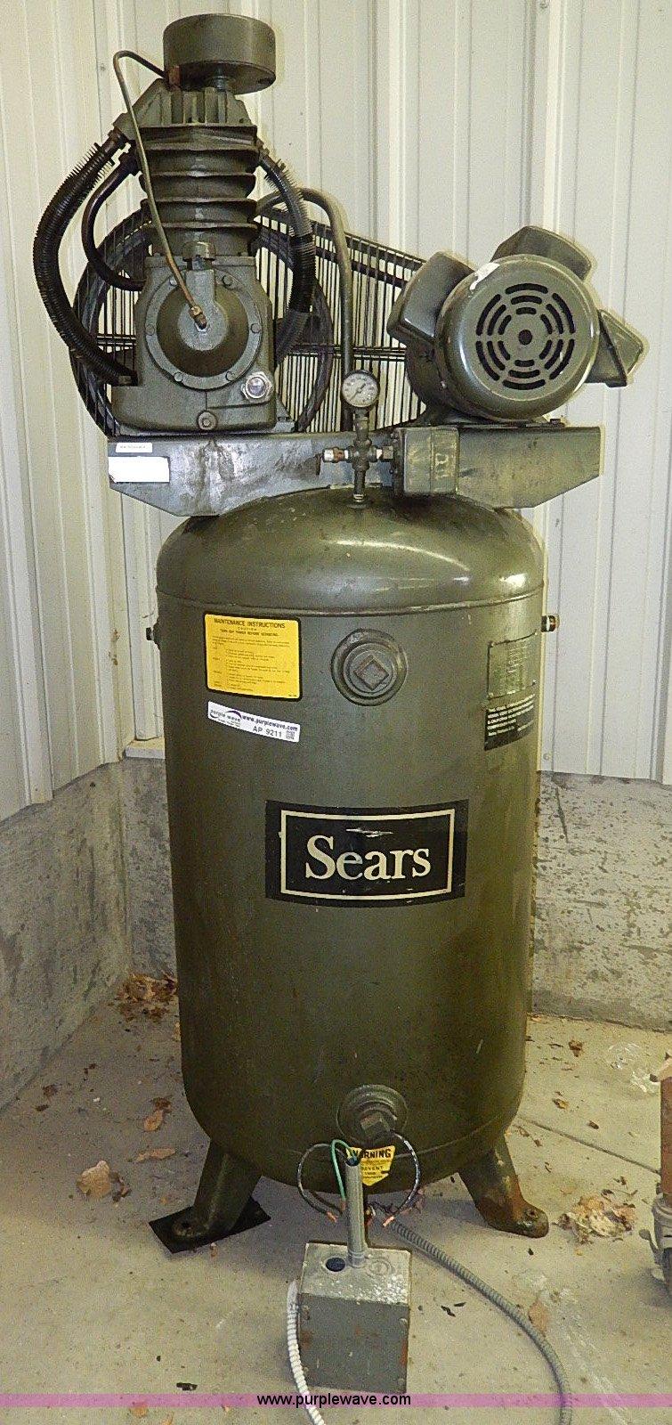 1982 Sears 80 gallon air compressor   Item AP9211   SOLD! Ma