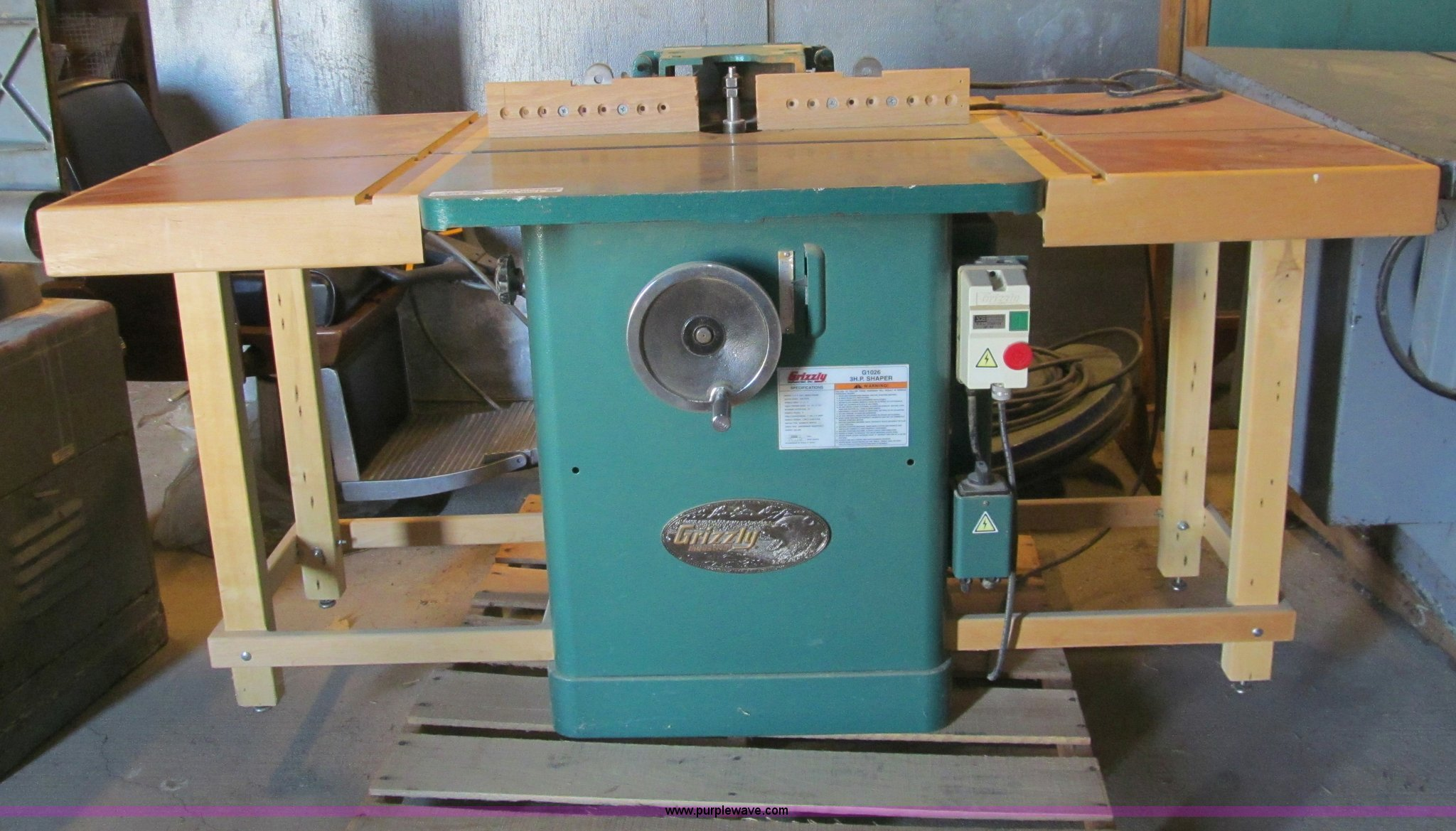2006 grizzly g1026 3hp shaper item ar9021 sold march 4 rh purplewave com