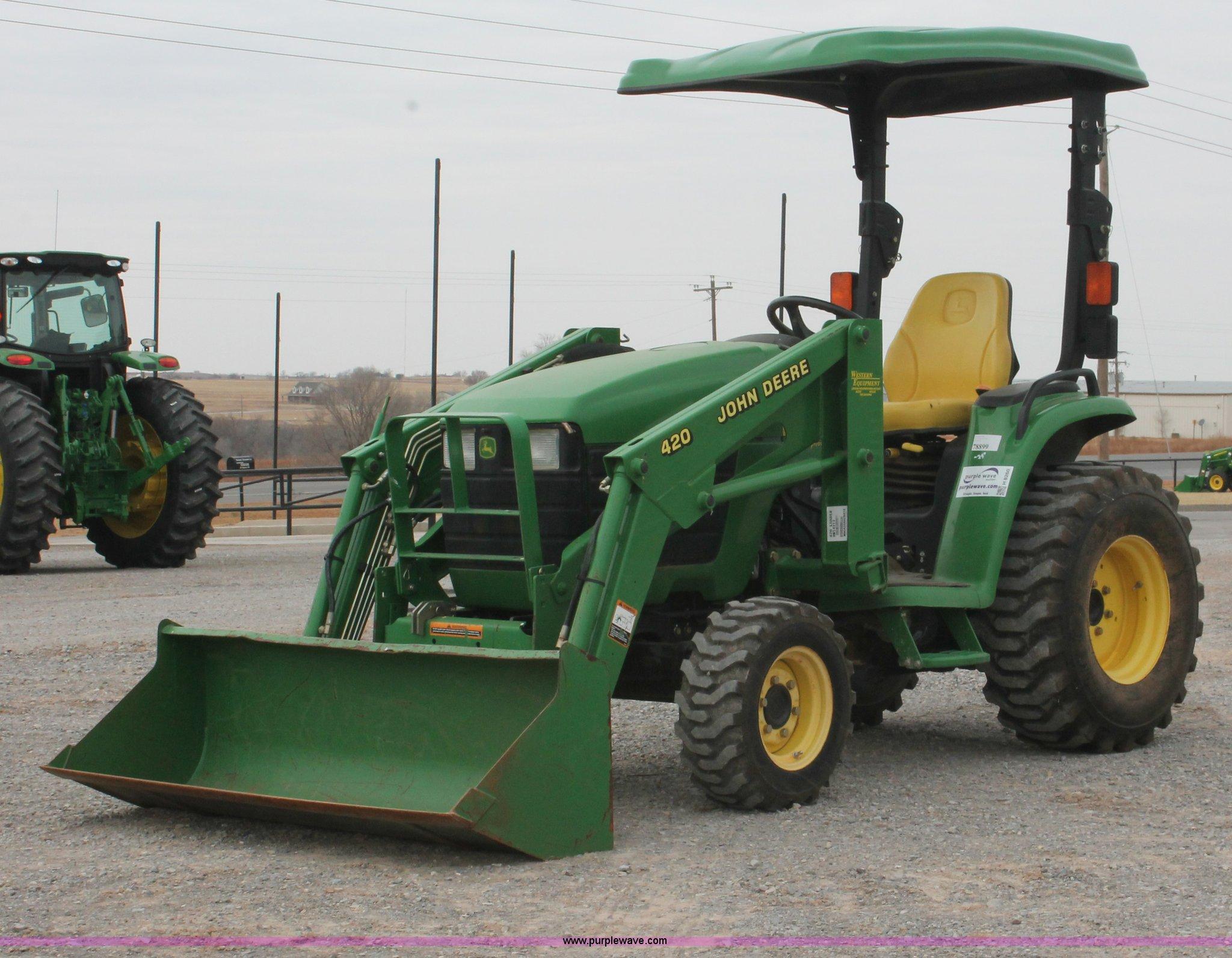 2004 John Deere 4210 Mfwd Tractor Item H8260 Sold M. Full Size In New Window. John Deere. John Deere 420 Pto Diagram At Scoala.co