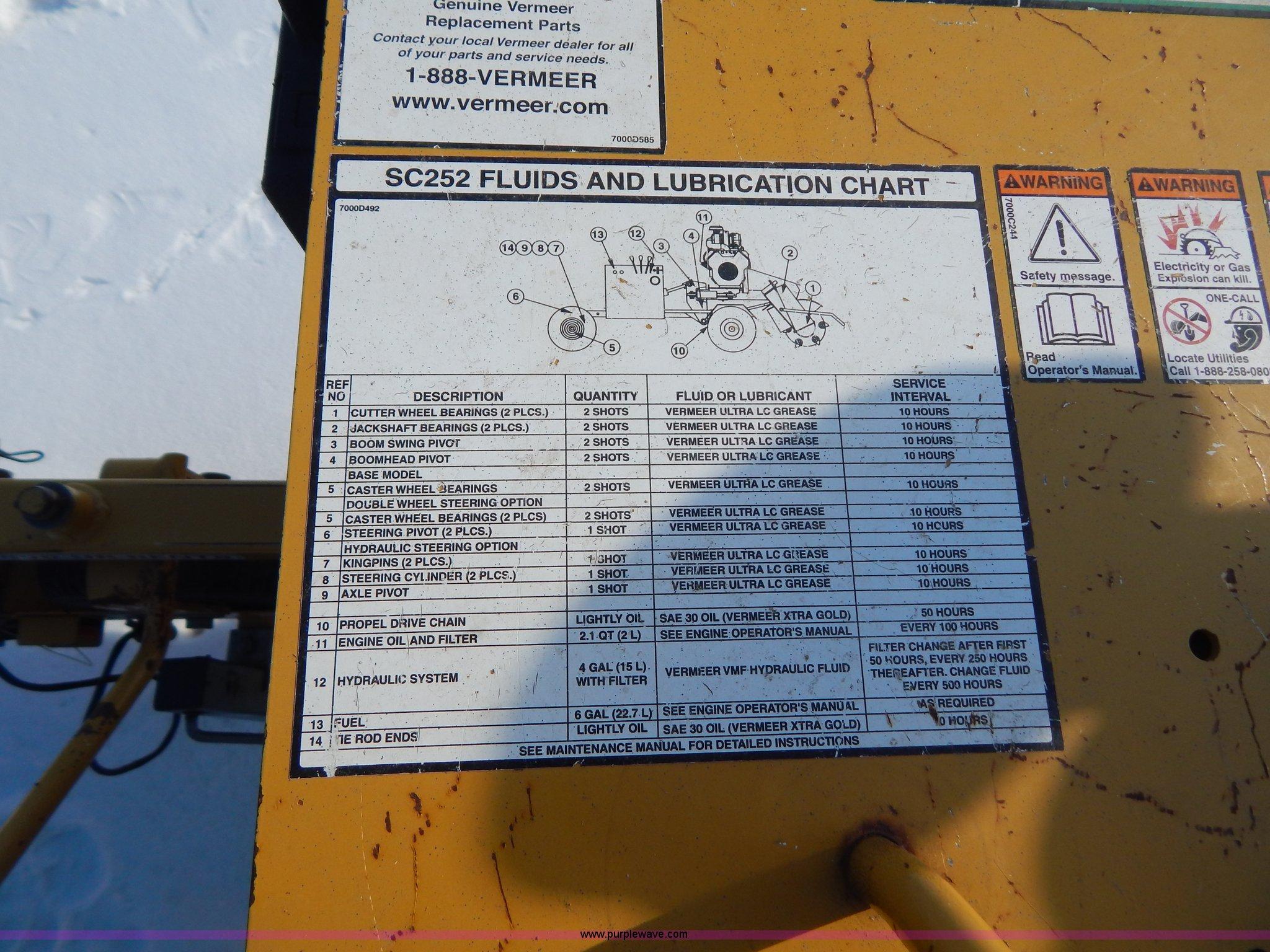 2010 Vermeer SC252 stump grinder | Item I1146 | SOLD! March