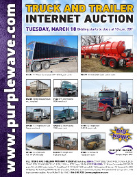 View March 18 Truck and Trailer Auction flyer