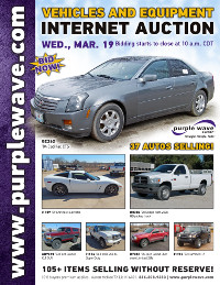 View March 19 Vehicles and Equipment Auction flyer