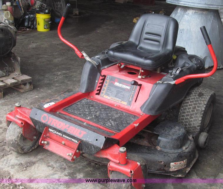 2007 Troy Bilt Mustang RZT ZTR lawn mower   Item G2271   SOL