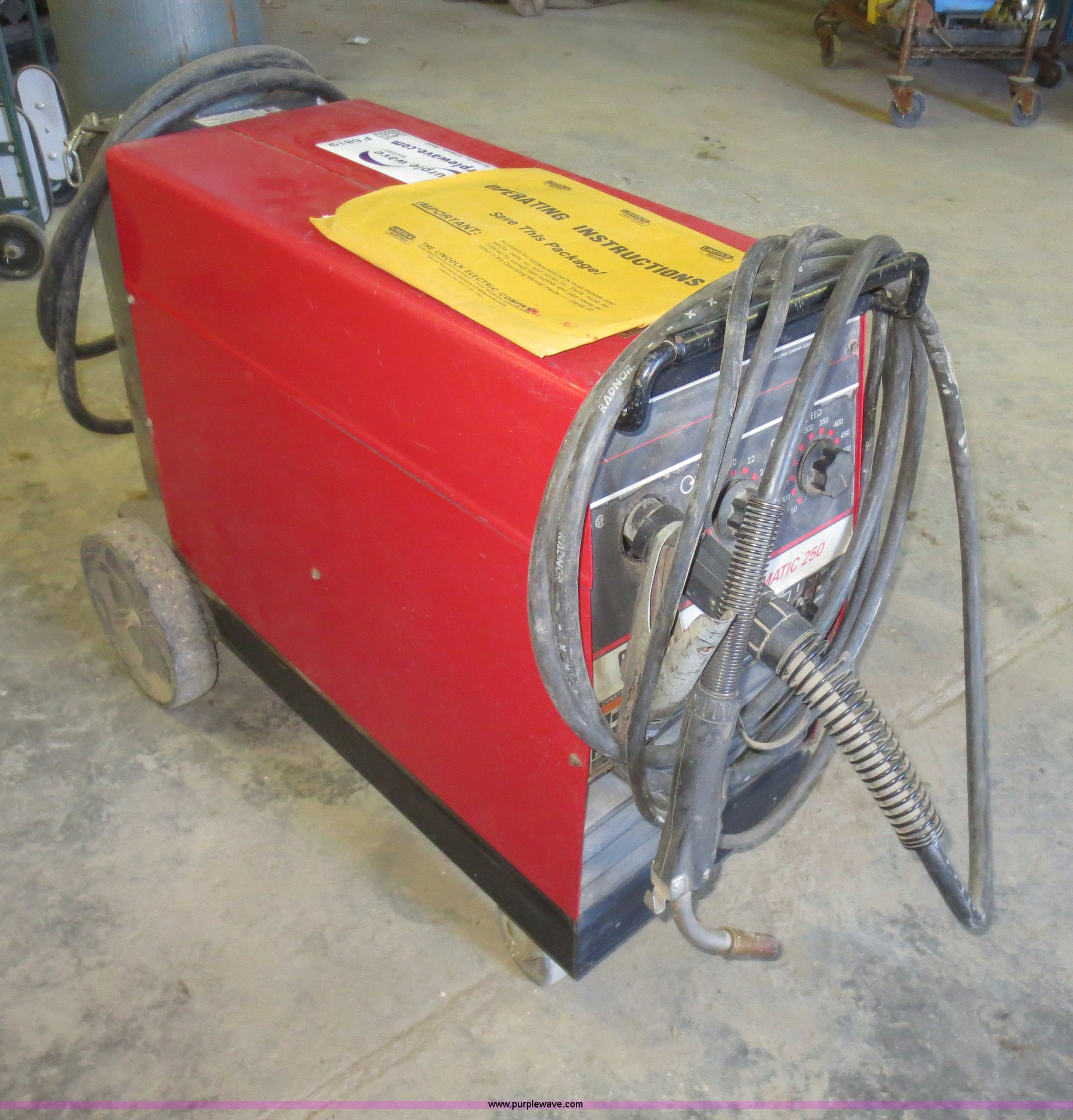 item weld pak s welder window auction lincoln full mig electric size new in