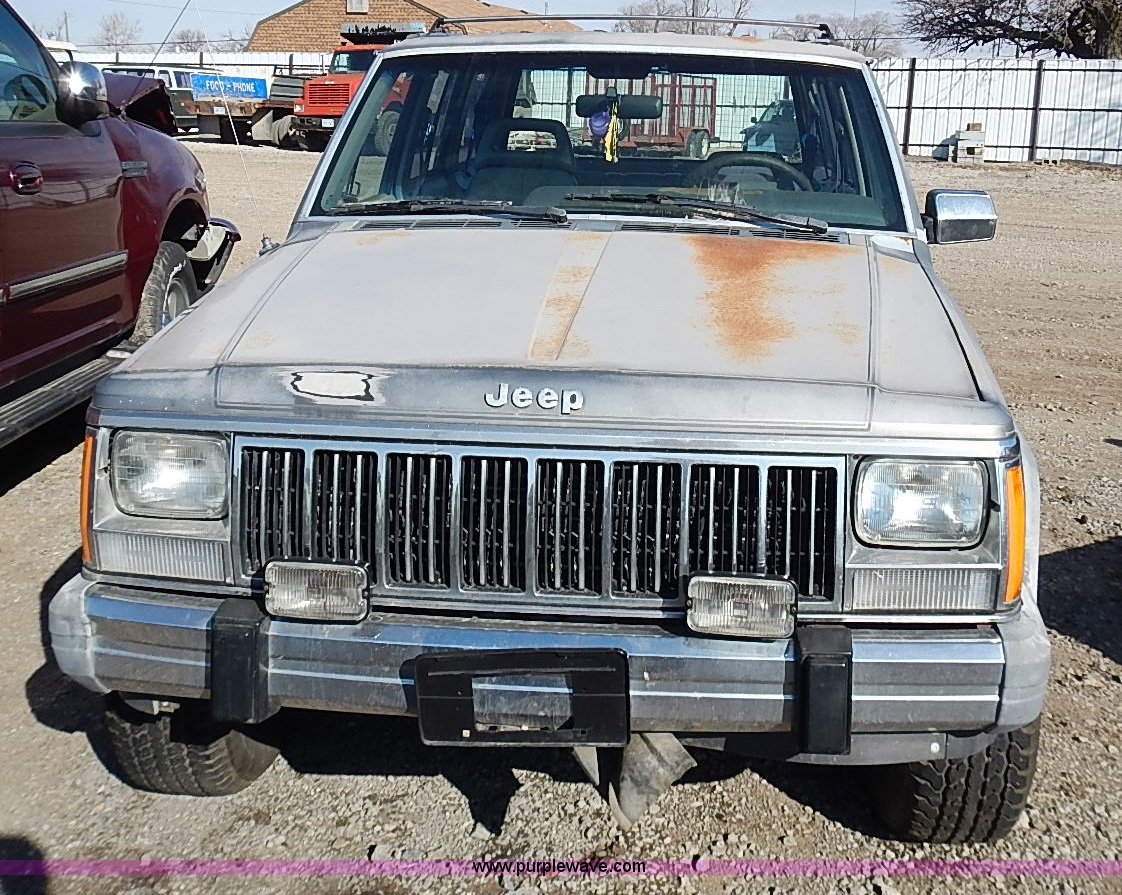 1990 Jeep Grand Cherokee Laredo Suv Item I9382 Sold Mar 90 Wiring For Trailer Full Size In New Window