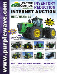 View March 24 Tractor Central Inventory Reduction Auction flyer