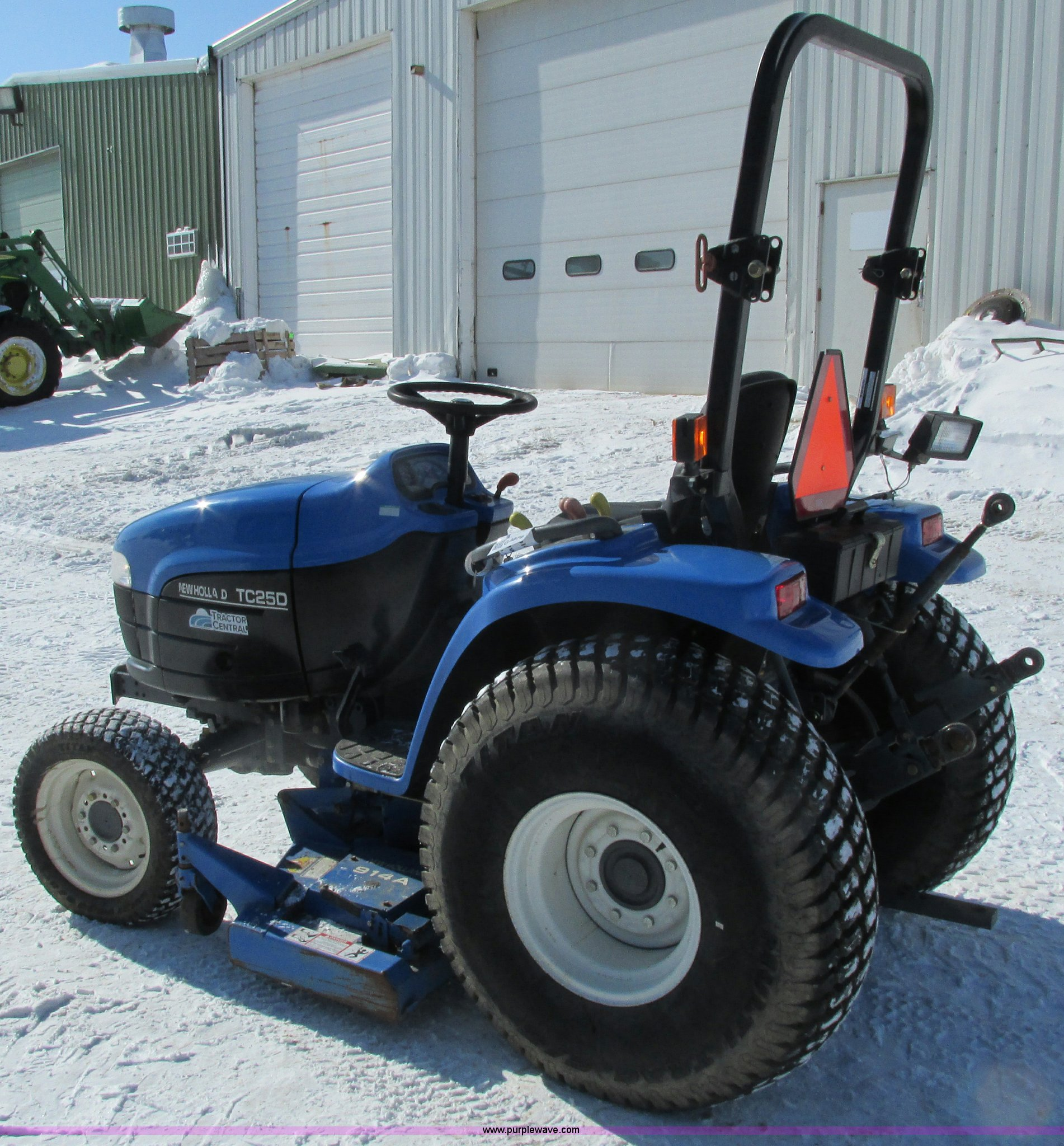 2001 New Holland TC25D MFWD garden tractor | Item G8879 | SO... New Holland Tc D Wiring Diagram on