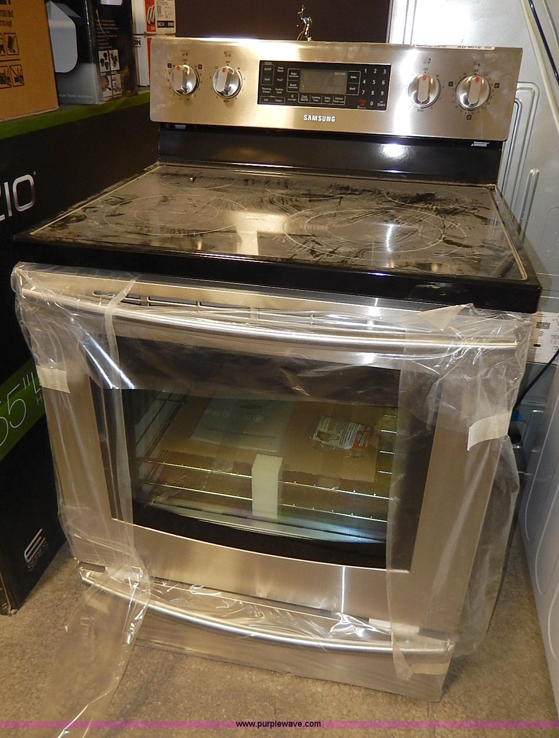 Glass Top Electric Stove ~ Samsung glass top electric cook stove item ad sold