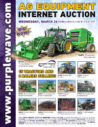 View March 26 Ag Equipment Auction flyer