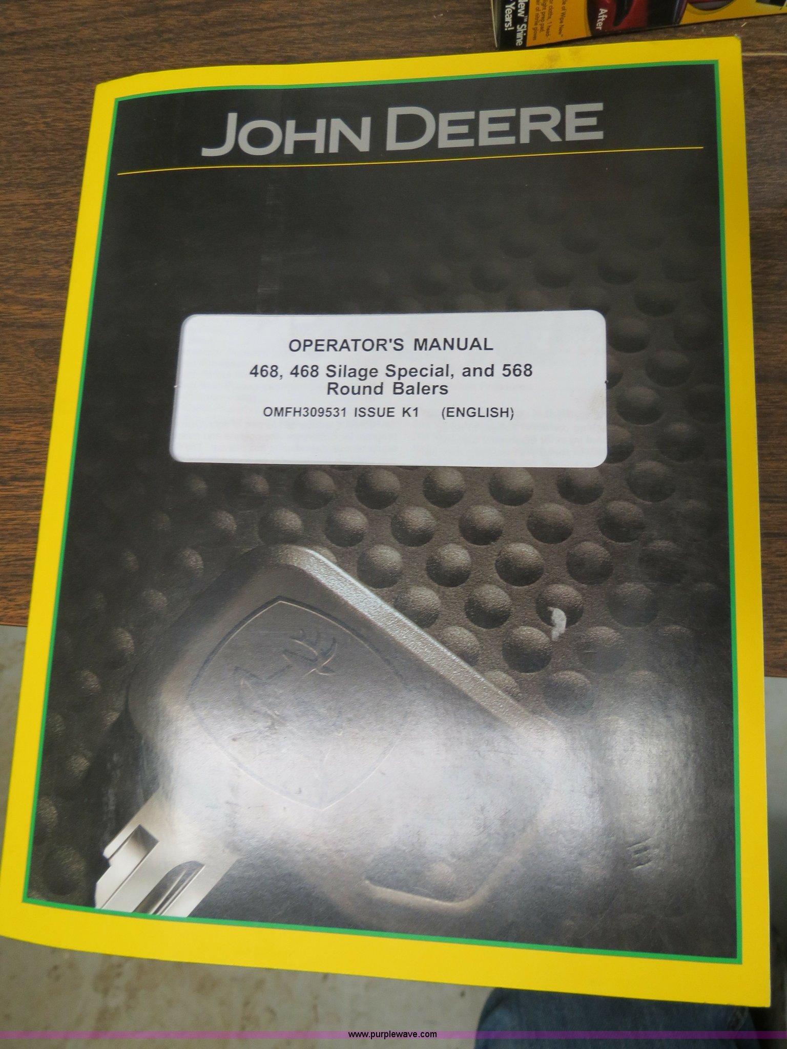 2012 John Deere 568 round baler   Item B4872   SOLD! March 2
