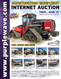 View March 27 Construction Equipment Auction flyer