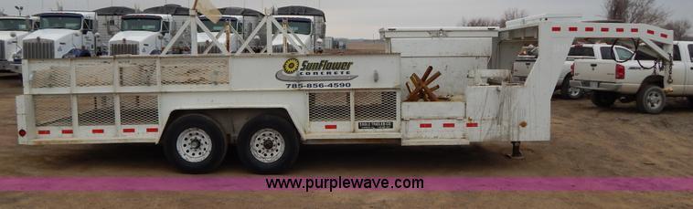1996 Eagle gooseneck concrete form trailer | Item H1484 | SO