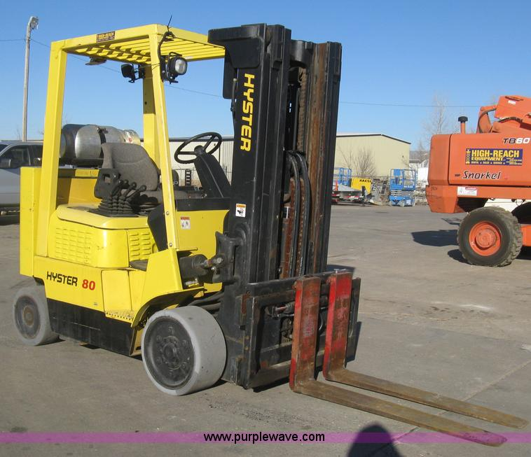 hyster s80xm bcs forklift item i5643 sold march 27 cons