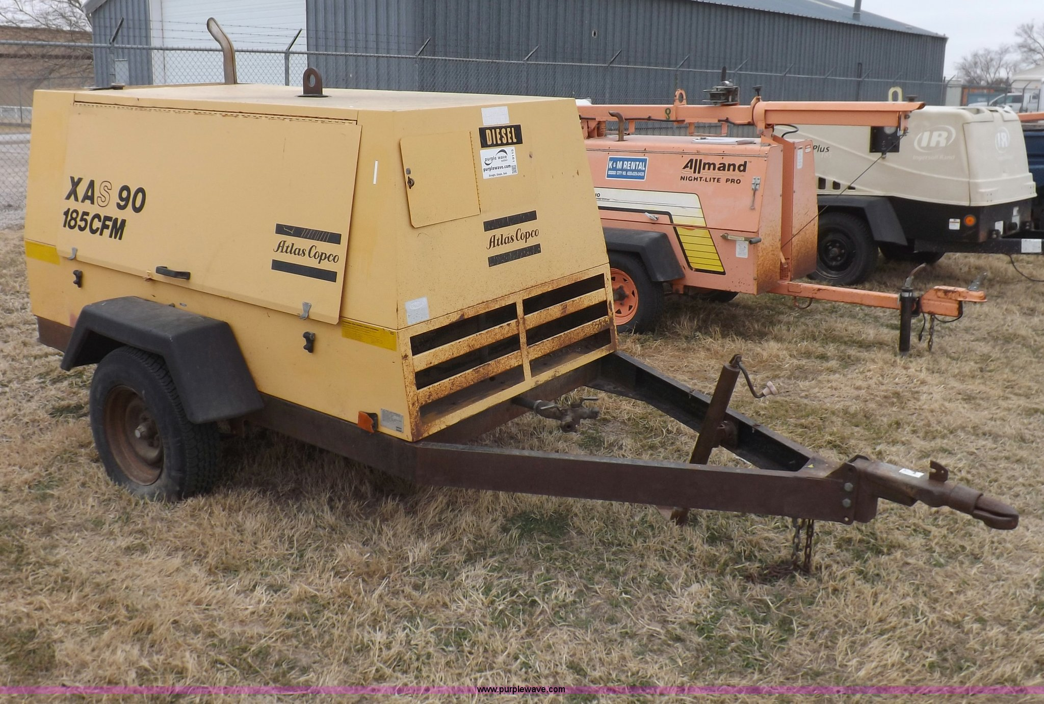 1992 Atlas Copco XAS90 portable air compressor for sale in Kansas