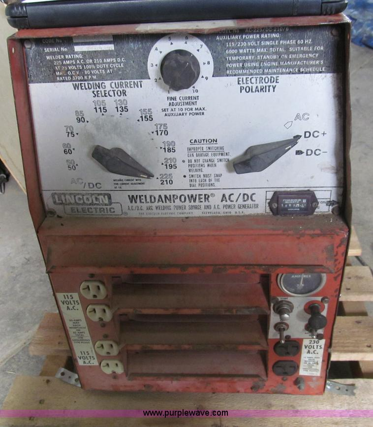 Lincoln Weldanpower AC DC Welder Item I7230 SOLD April
