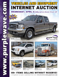 View April 2 Vehicles and Equipment Auction flyer