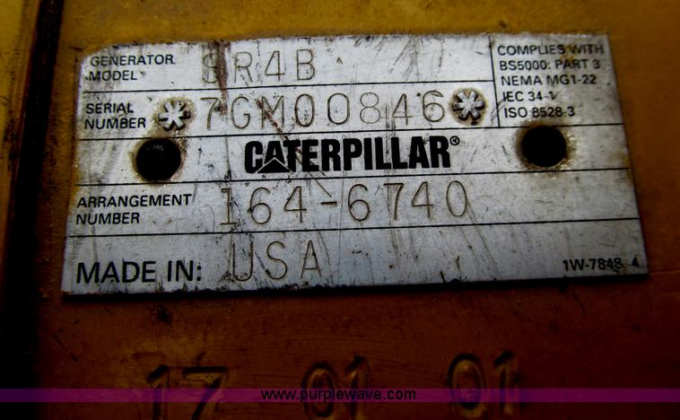 Caterpillar SR4B generator with Caterpillar 3512 diesel engi