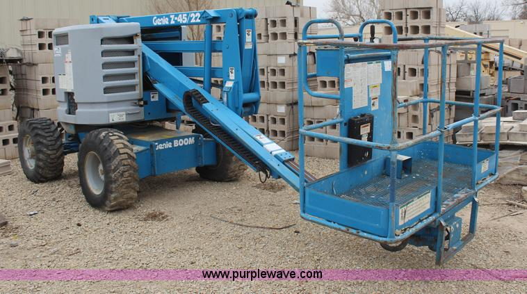 1995 genie z45 22 boom lift item h6241 sold april 10 co rh purplewave com genie z45/25j manual genie boom z45 25 manual