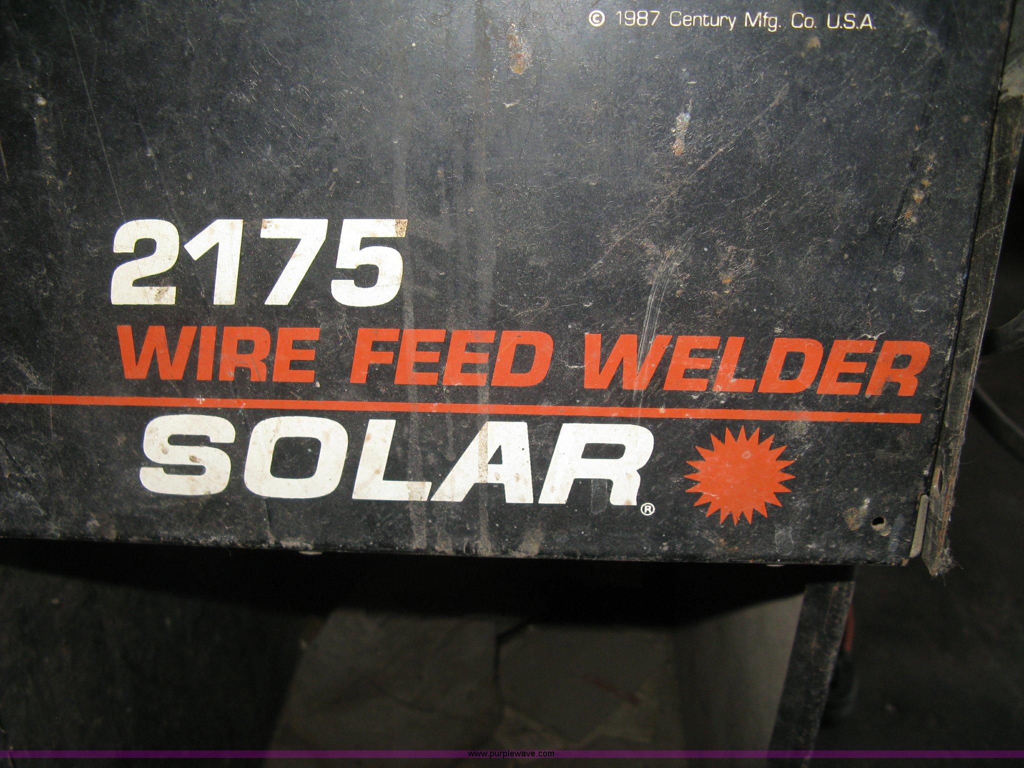solar 2175 welder wiring diagrams solar 2175 wire feed welder in newton  ks item ax9917 sold  solar 2175 wire feed welder in newton