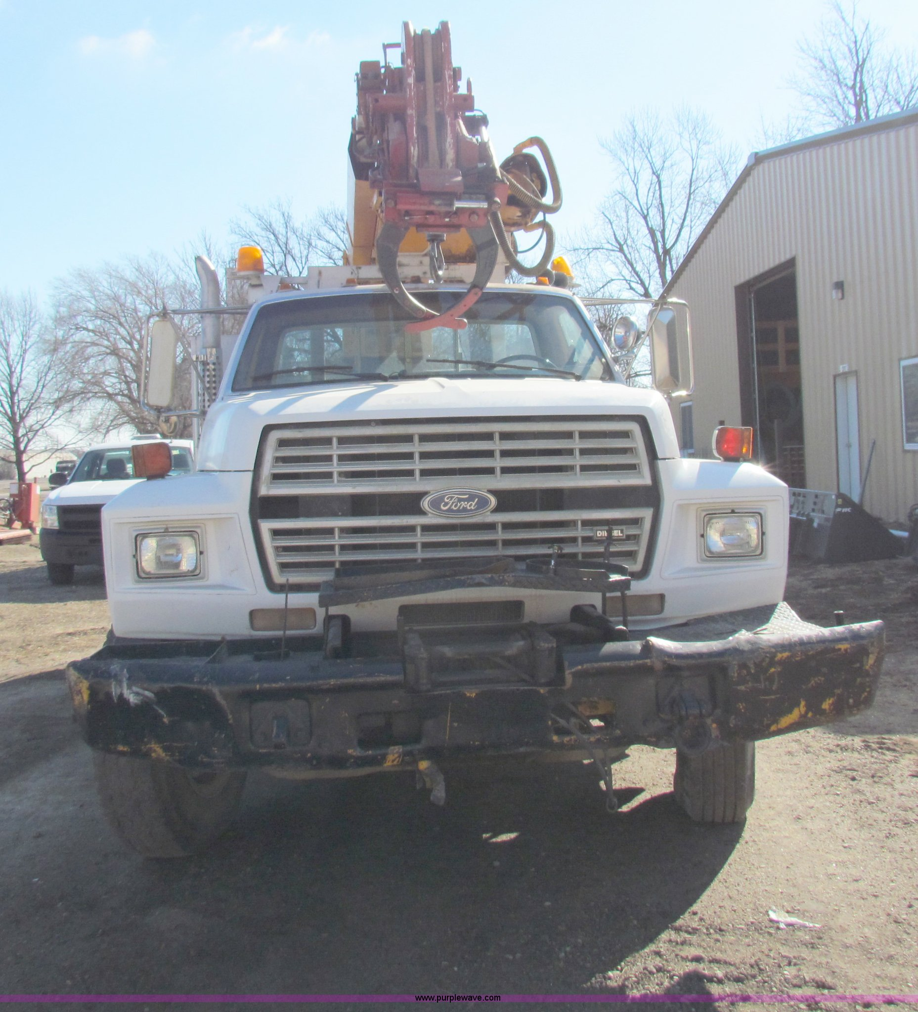 ... 1987 Ford F800 digger derrick truck Full size in new window ...