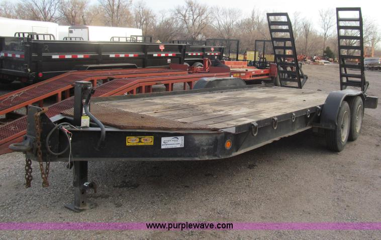 1998 Towmaster T 14dd Equipment Trailer No Reserve