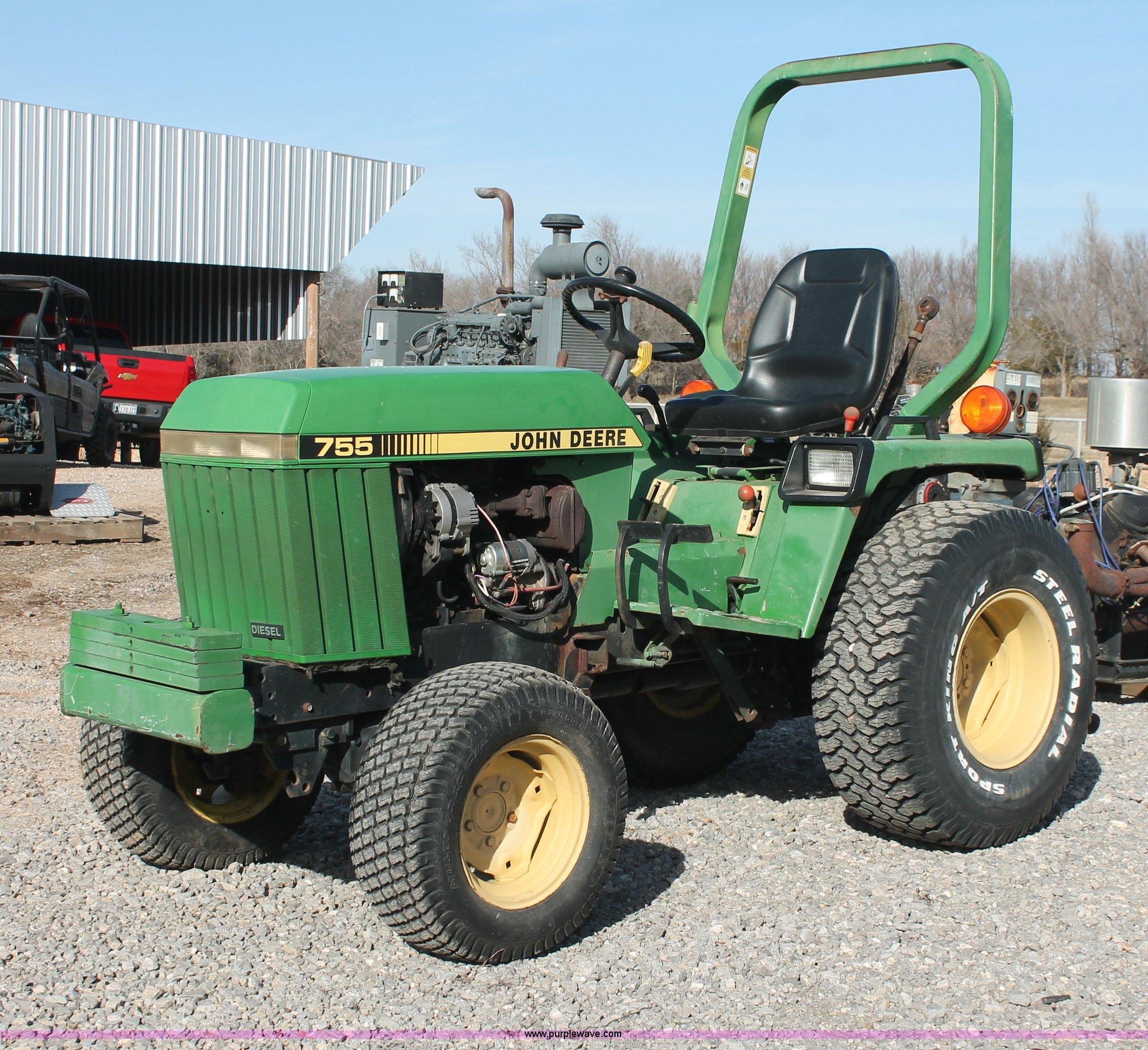 1988 john deere 755 mfwd tractor item ao9487 sold april. Black Bedroom Furniture Sets. Home Design Ideas