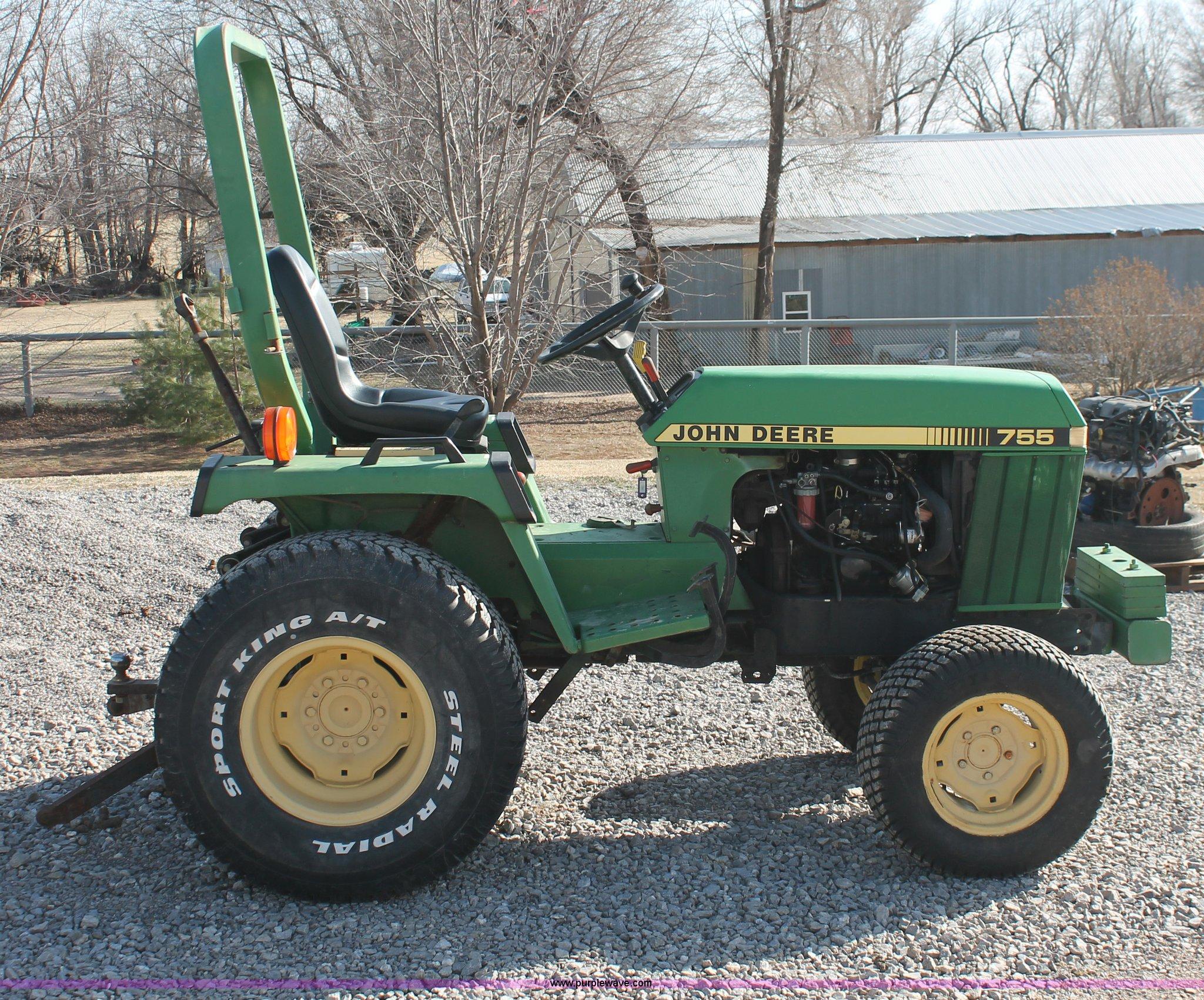 1988 john deere 755 mfwd tractor item ao9487 sold. Black Bedroom Furniture Sets. Home Design Ideas