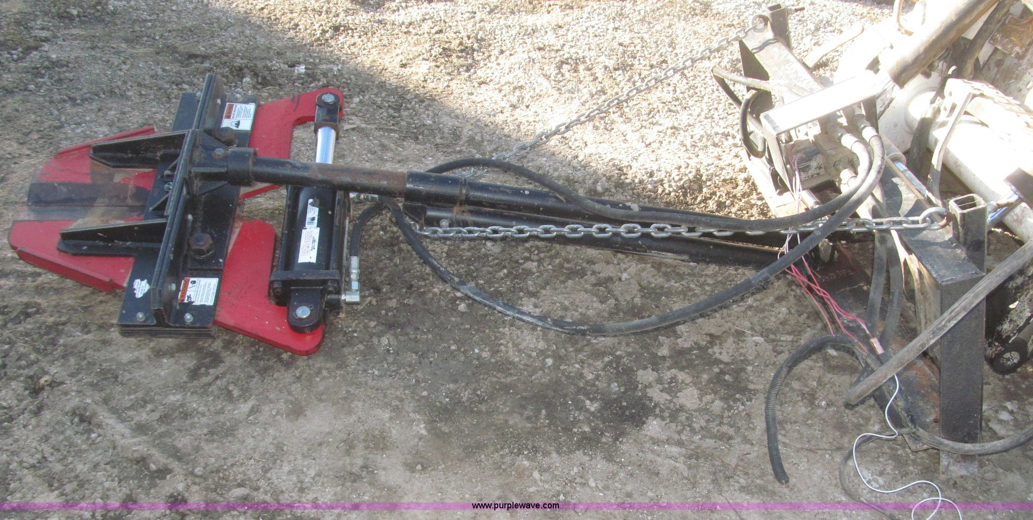 Rotating tree shear/limb trimmer skid steer attachment | Ite