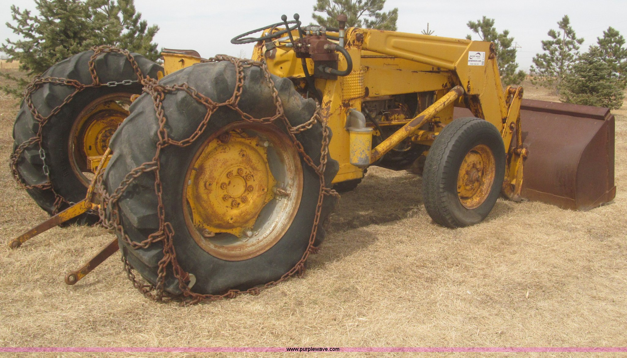 ... Massey-Ferguson Work Bull MF204 industrial tractor with loader Full  size in new window ...