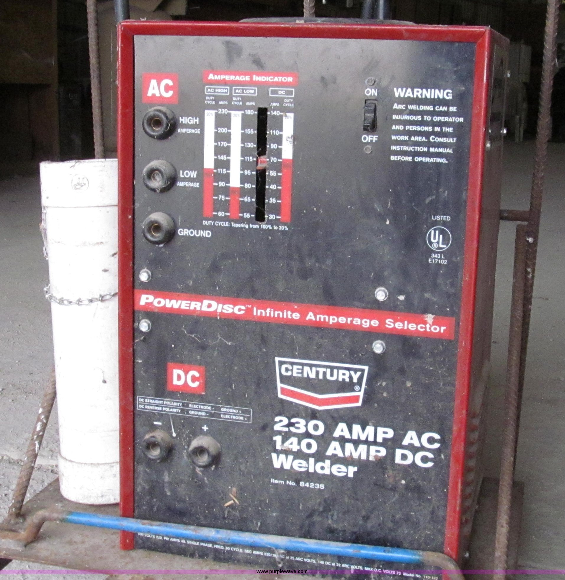 ... Century AC/DC arc welder Full size in new window ...