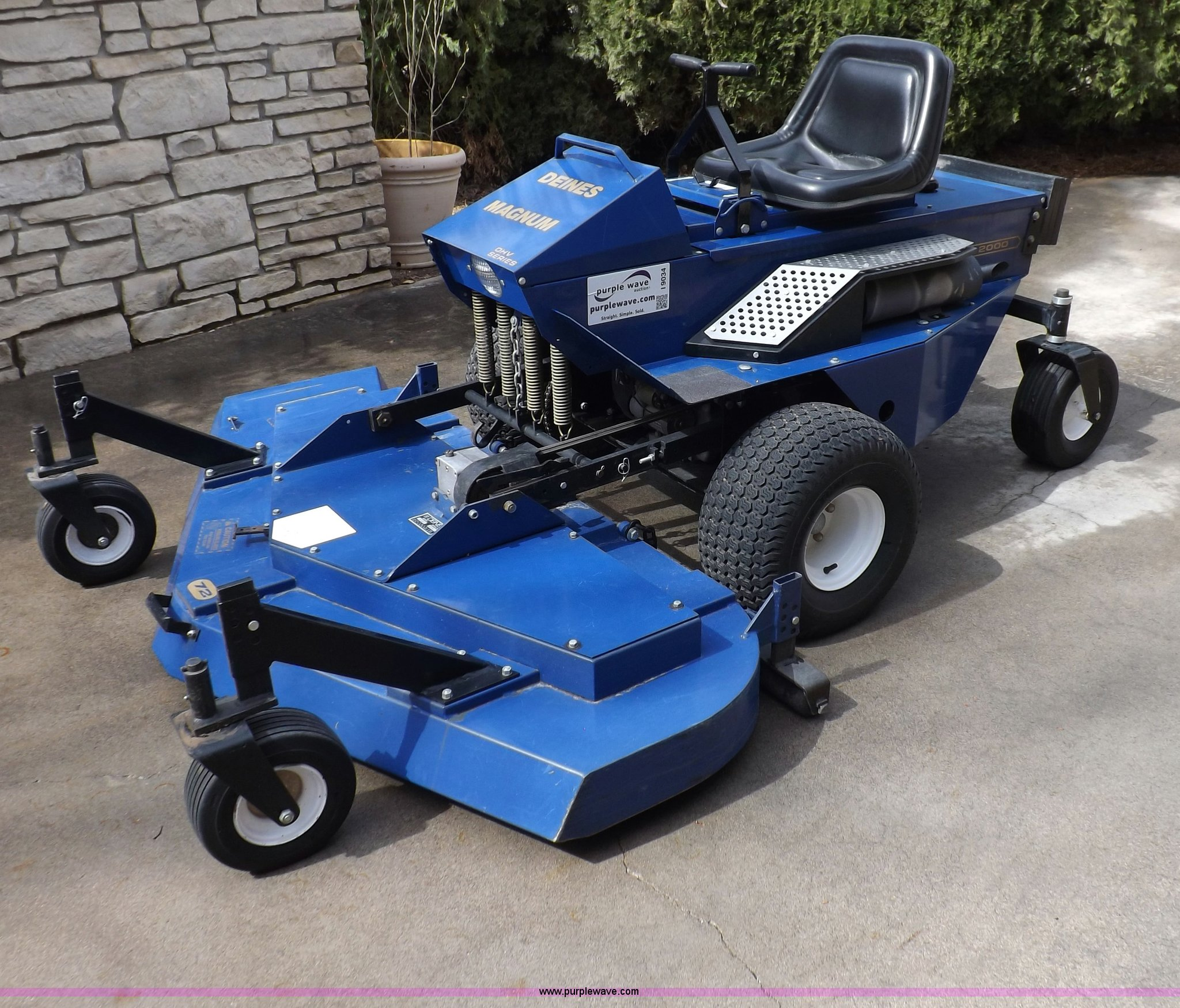 deines magnum ztr lawn mower item i9034 sold april 16 v rh purplewave com Deines Mower Diagram Deines Mower Diagram