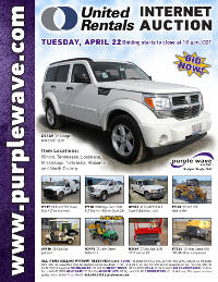 View April 22 United Rentals Auction flyer