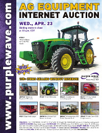 View April 23 Ag Equipment Auction flyer