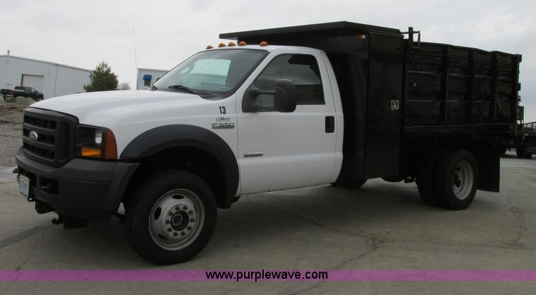 f4866 image for item f4866 ford f550 dump bed truck - The Dump Mattress Sale