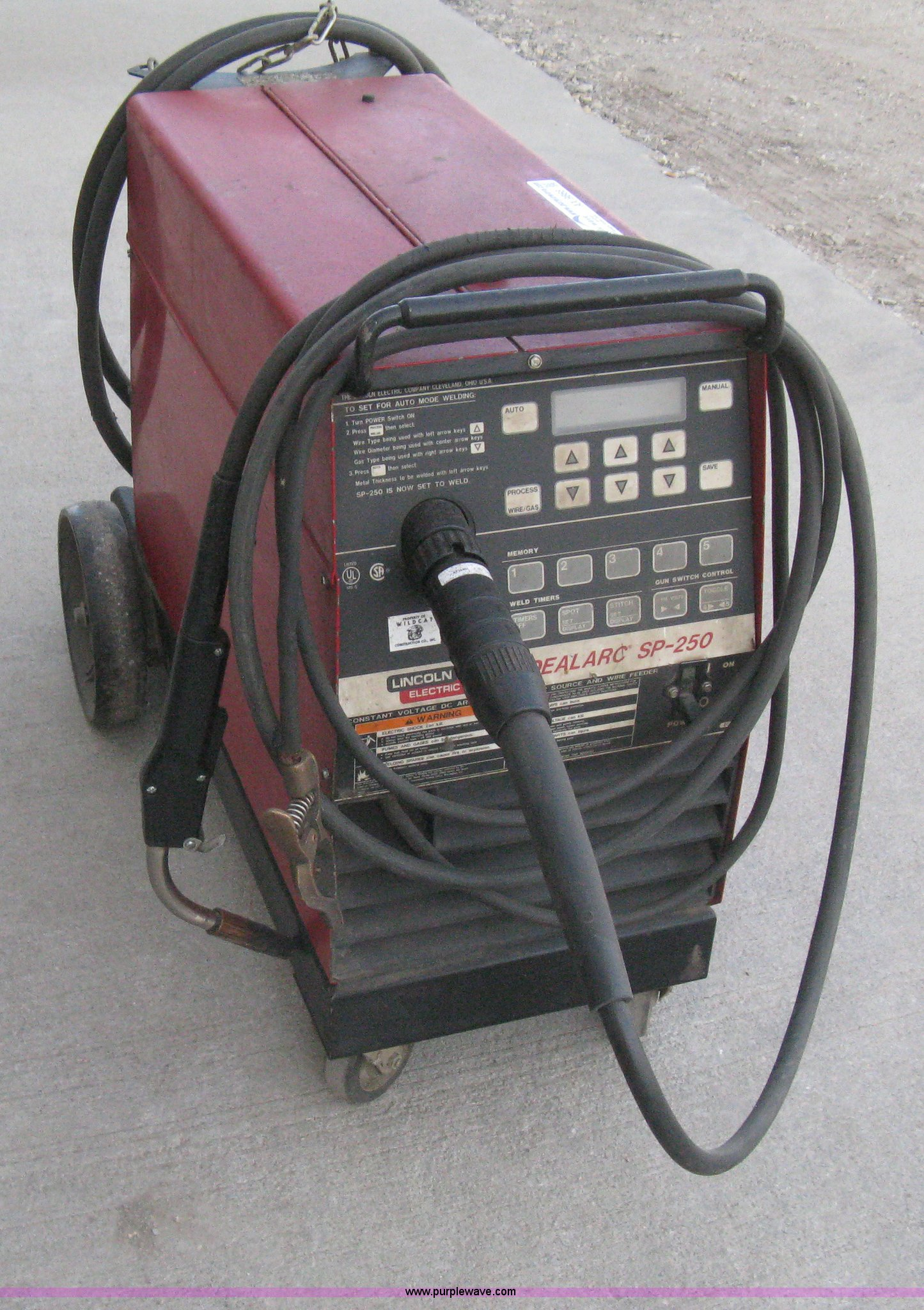 item matic wire july sold mig for lincoln welder image auction