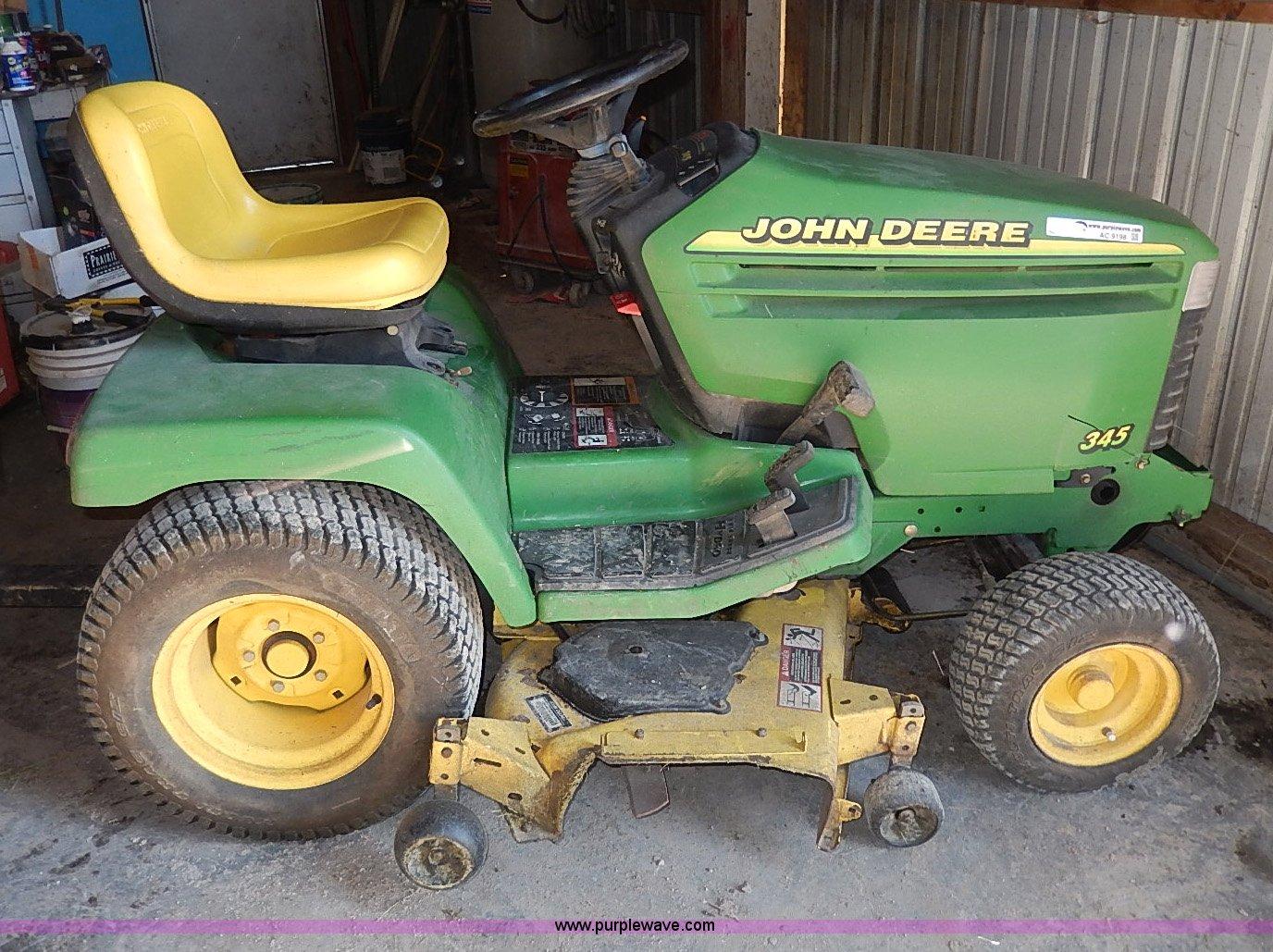 John Deere 345 >> John Deere 345 Riding Mower Item Ac9198 Sold April 30 V