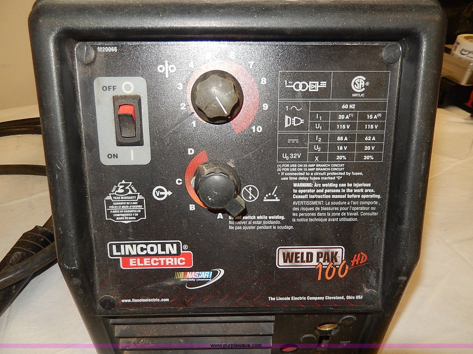 ... Lincoln Electric Weld Pak 100HD Full size in new window ...