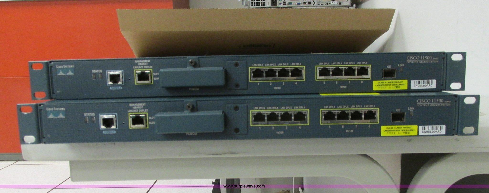 2) Cisco CSS11501 load balancers | Item AZ9748 | SOLD! May