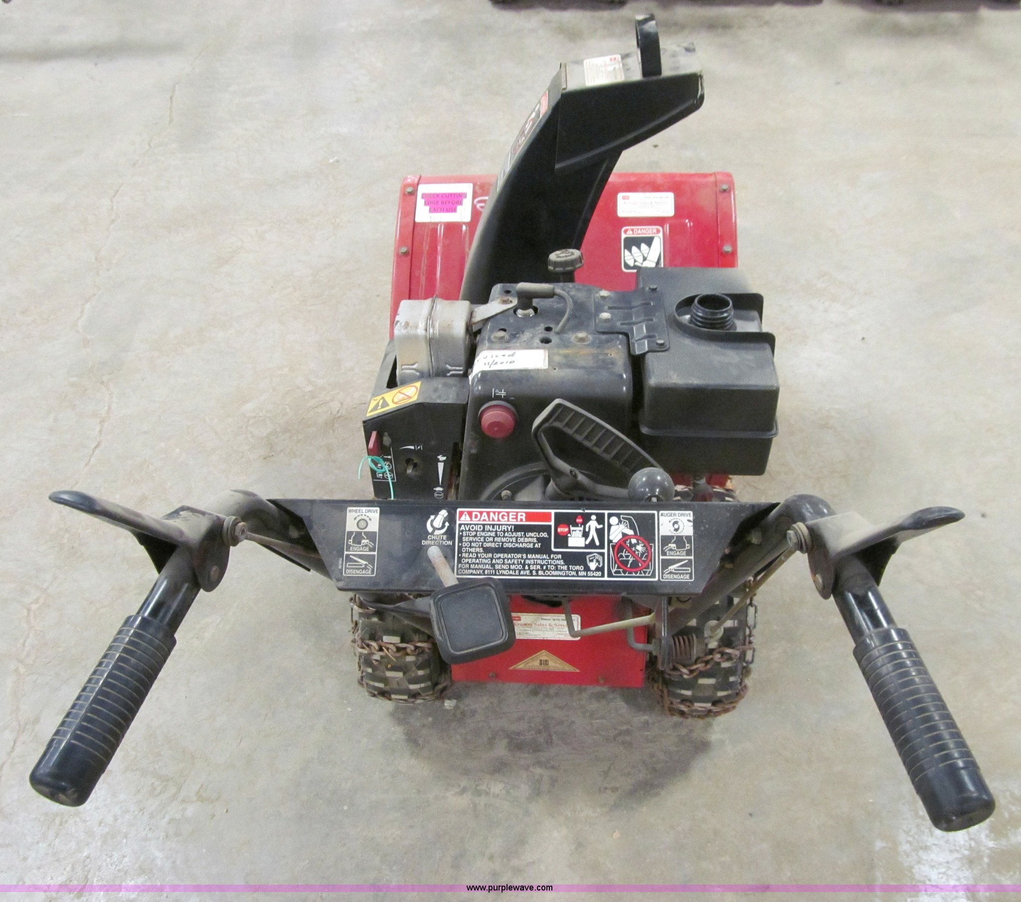 Toro 824 Self Propelled Snow Blower Item R9149 Sold May