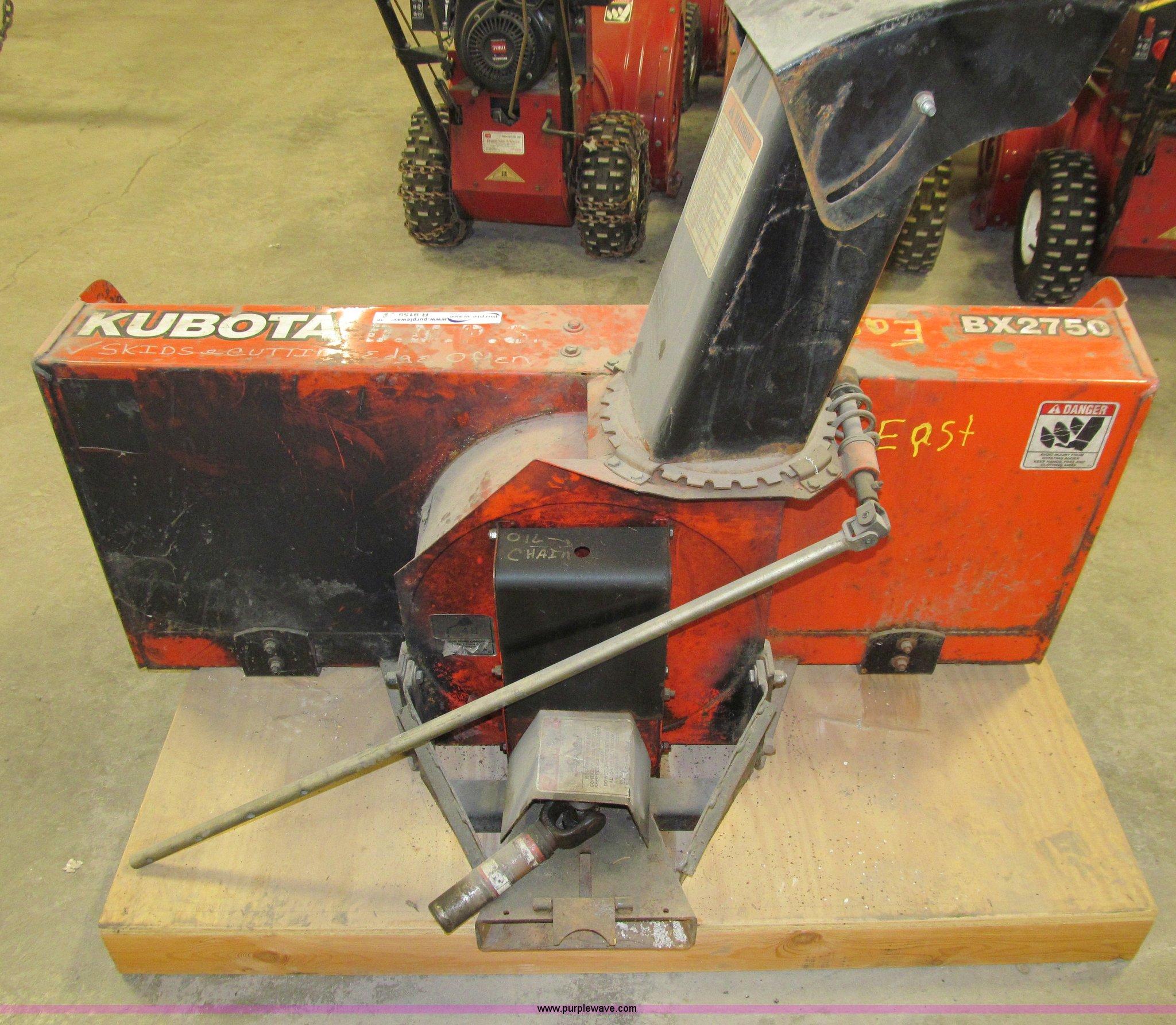 kubota bx2750 snow blower item r9159 sold may 6 governm rh purplewave com kubota bx2750d snow blower manual kubota bx2750d snowblower parts