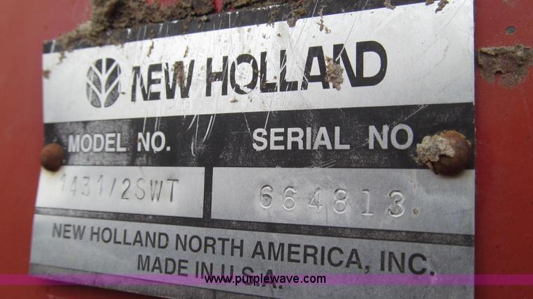 2002 New Holland 1431/25WT discbine mower conditioner   Item