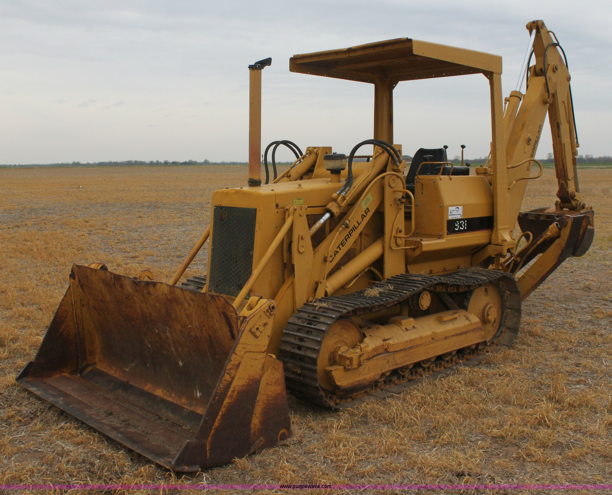 Track Loader For Sale >> 1979 Caterpillar 931 Track Loader With Backhoe Attachment