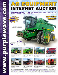 View May 28 Ag Equipment Auction flyer