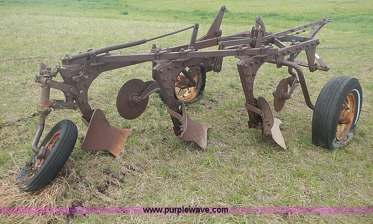 B&H 55A three bottom plow | Item AC9122 | SOLD! May 28 Ag Eq