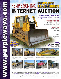 View May 29 Kemp and Son, Inc. Complete Realignment Auction flyer