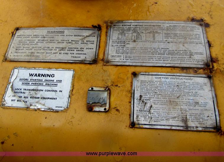 1970 Caterpillar 627 scraper | Item E4714 | SOLD! May 29 Kem