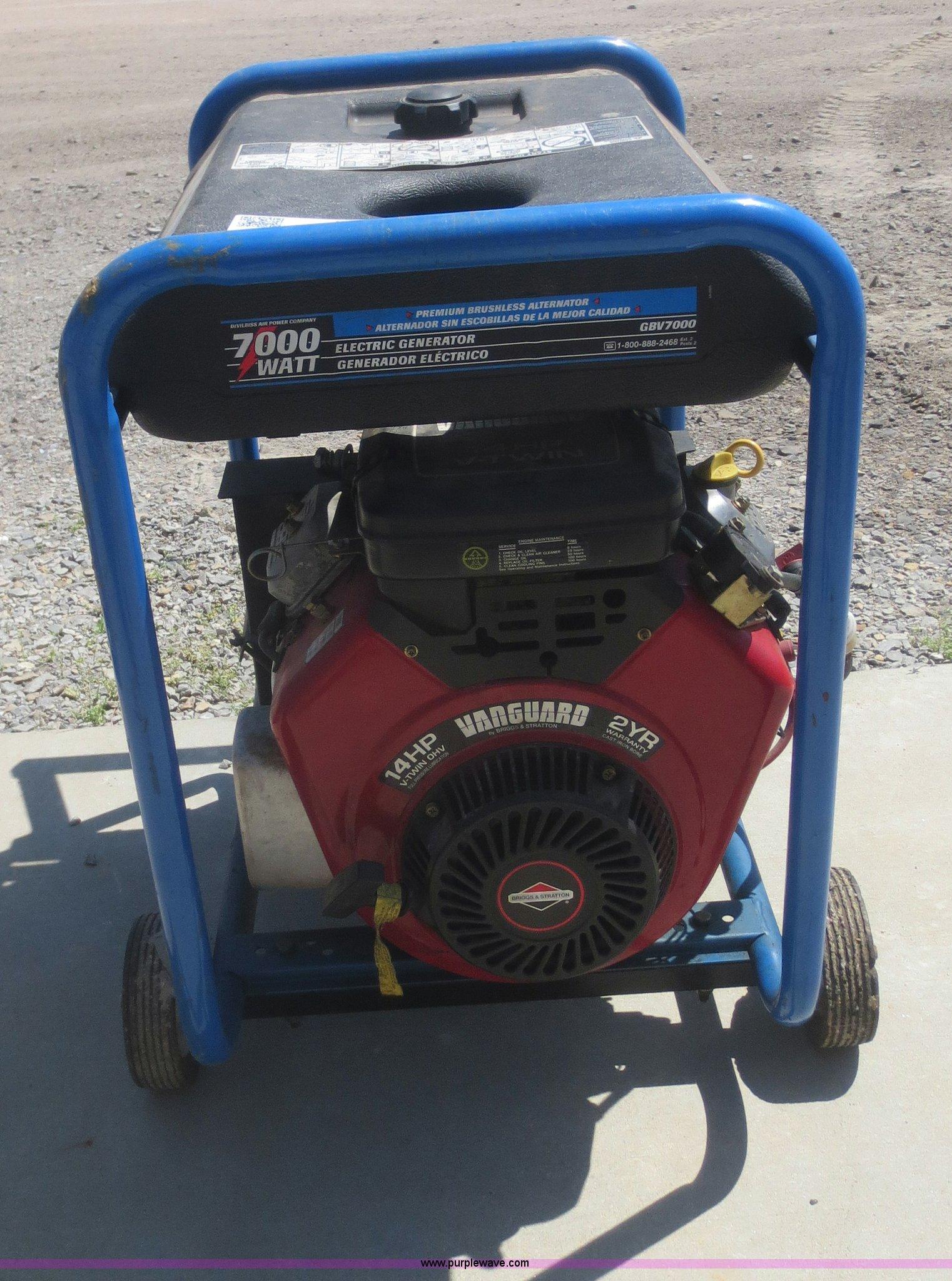 Devilbiss GBV7000 generator   Item F8246   SOLD! June 3 Gove