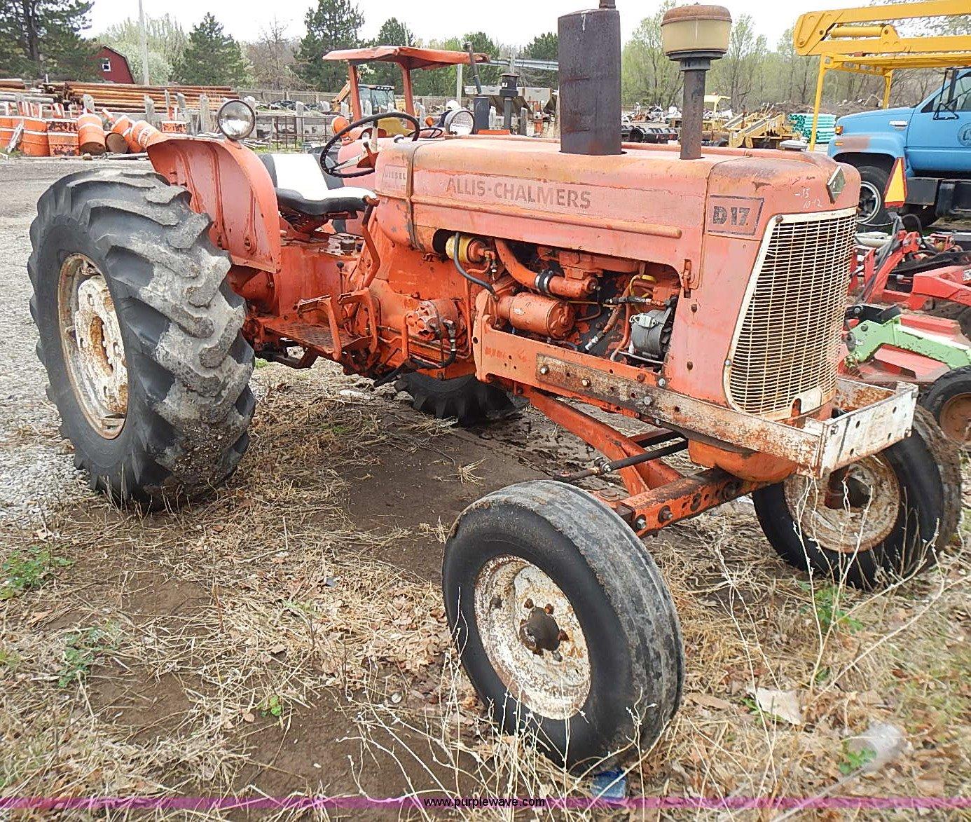 1967 Allis Chalmers D17 Series IV tractor   Item I3653   SOL